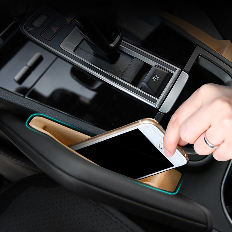Pour Porsche Cayenne 2018 2019 voiture boîte à gants Console centrale support de rangement conteneur 2 pièces plastique