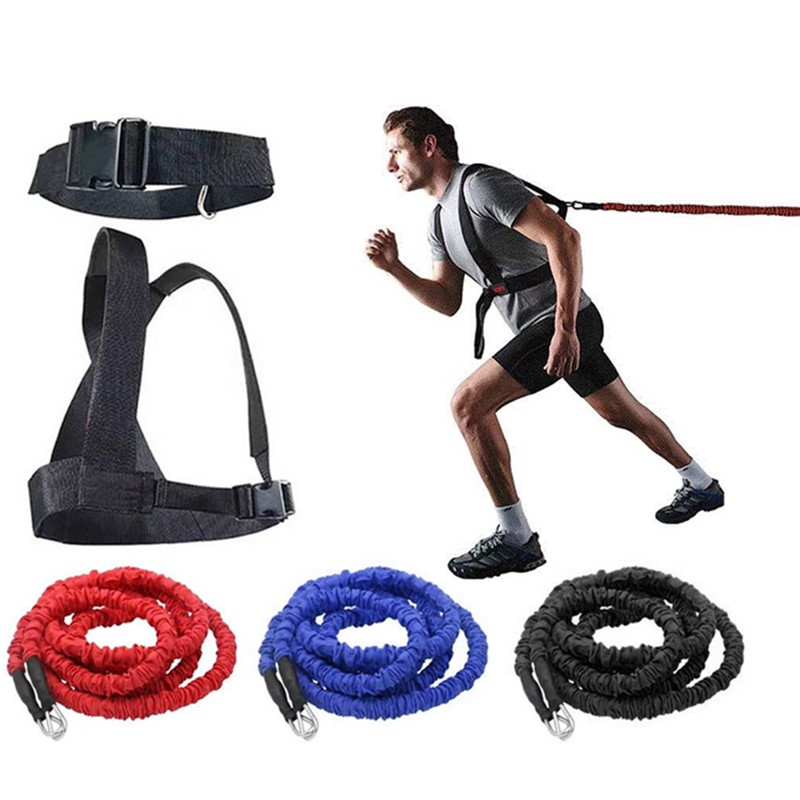 2-5m Resistance Band Bungee Fitness Speed Trainer For Agility Running Training Sprint Workout Latex Gym Rope Exercise Equipment