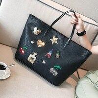 High Capacity Handbags Women Brand Designer Shoulder Bag Female Winter 2017 Big Bag Ladies Shopping Badge Casual Tote Harajuku