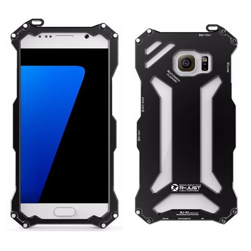 bilder für R-just gundam s7 rand metall case für samsung galaxy s7 & s7 rand marke design aluminium rüstung abdeckung 360 schutzhülle telefon gehäuse