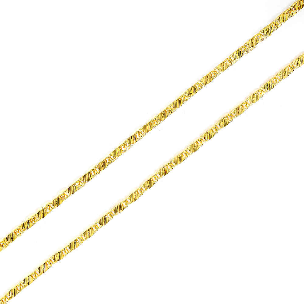 """2mm נשים בנות 585 תכשיטי זהב צבע שטוח נחש סגנון שרשרת שרשרות 16 """"18"""" 20 """"22 """"24"""" 26 """"28"""" 30 """"סיטונאי 18 K חותמת"""