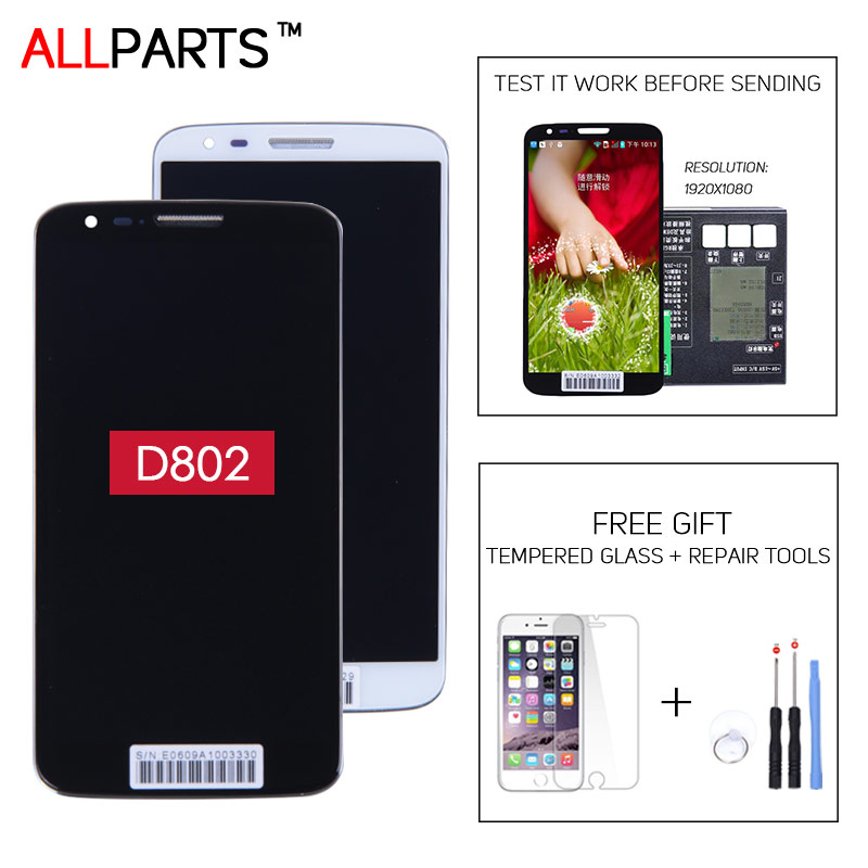 ORIGINAL or COPY 5.2 Black White HD IPS Display For LG Optimus G2 D805 D802 LCD Touch Screen With Frame Digitizer Assembly
