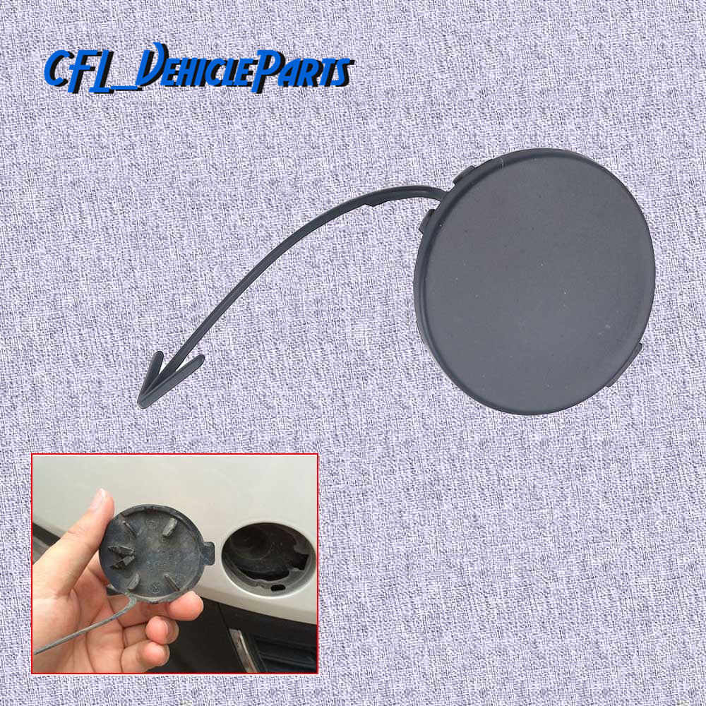 Front Bumper Grille Tow Eye Cap Cover Unpainted 5C6807241 For VW Jetta MK6 2011 2012 2013 2014