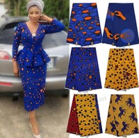 Beautiful Super Hollandais Wax African Clothing 100 Cotton Holland Printed Fabric 6yards Red Yellow T