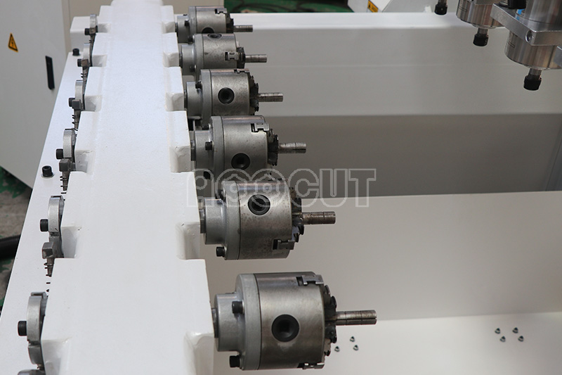 High power spindle direct manufacture Aoocut 1718 multi heads cnc woodworking machine for wood processing 2