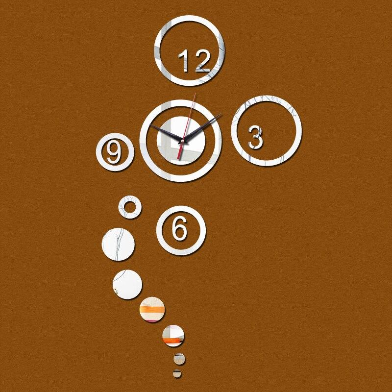 2015 acrílico relógios de quartzo venda direta real 3d parede espelho adesivos relógio moderno novidade home decor frete grátis