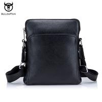 Genuine Leather men   bag   casual business men shoulder crossbody   bag   high quality cowhide zipper fashion male messenger   bags