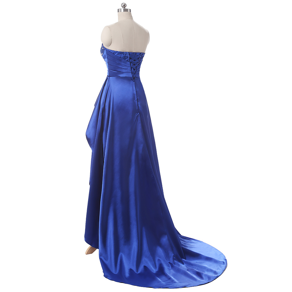 Satin Long Bridesmaid Dress