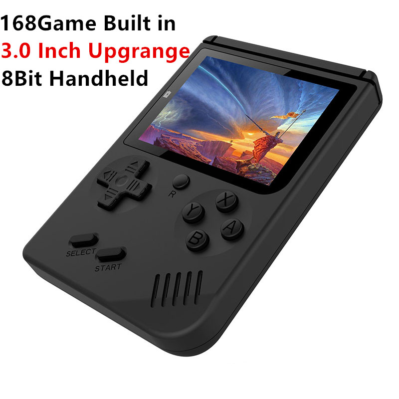 2018 New Upgrade RS-6 Portable Mini Handheld Game Console gift 8Bit 3.0 Inch Color LCD Kids Color Game Player Built-in 168 games