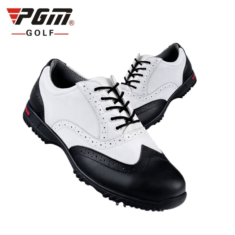 Pgm Golf Mens Shoes Leather Comfortable Golf Men s Shoes Breathable Activities Rotating Spikers Training Sneakers