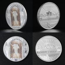 Иисус Христос религия Памятная коллекция монет подарок сувенир искусство Металл Antiqu 1 шт