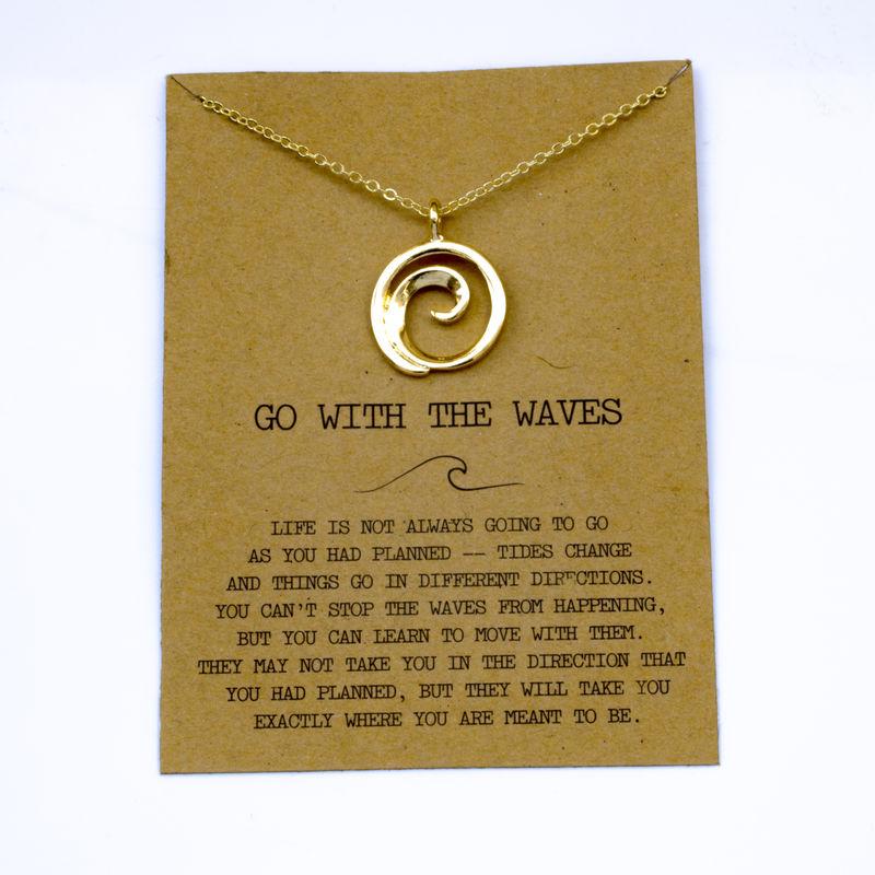 """SanLan 1 шт идут в комплекте ожерелье с подвеской """"волны"""" Океан ювелирные изделия - Окраска металла: 19"""