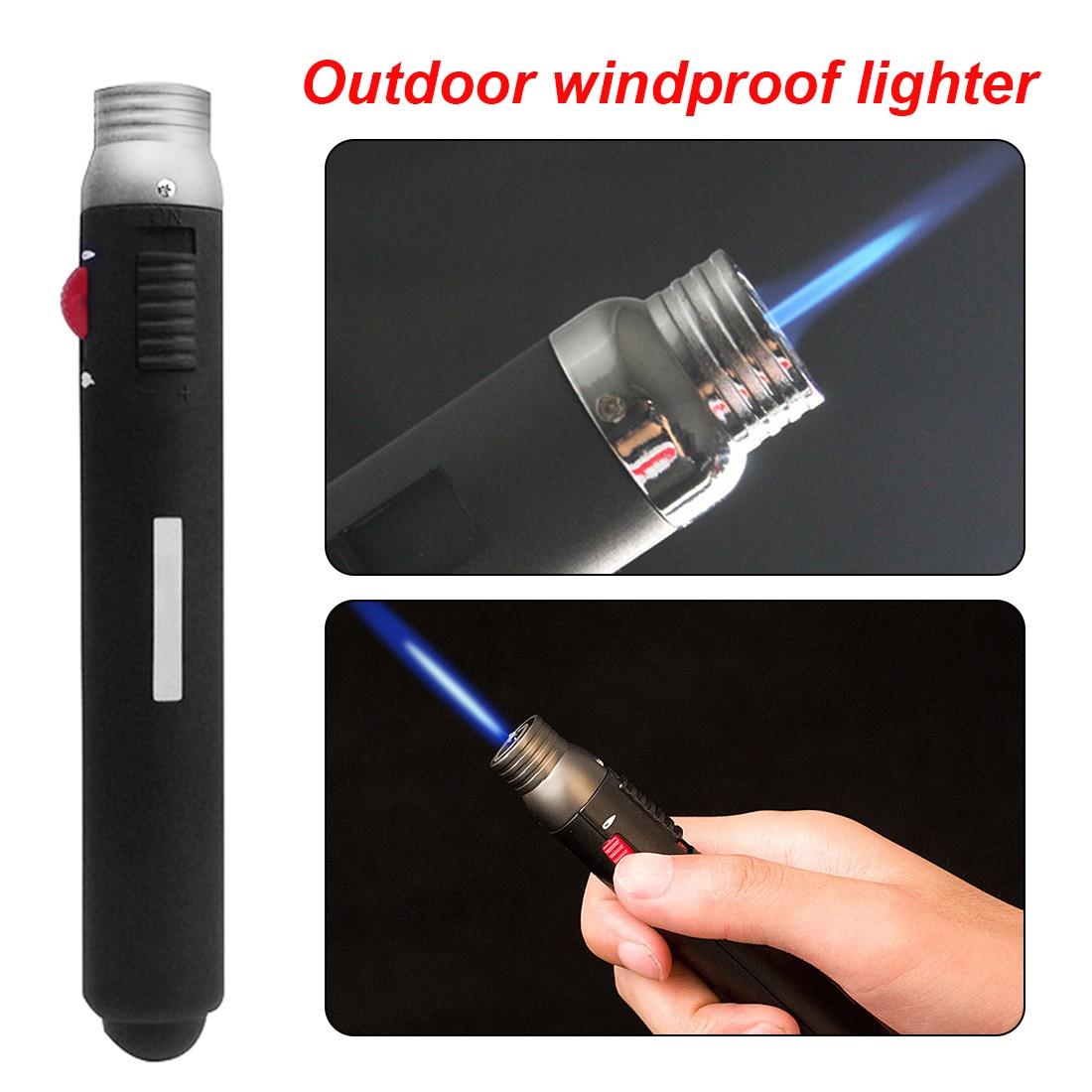 1pc Welding Torch Pen Outdoor Lighter Jet Flame Butane Gas Refill Lighter Welding Soldering Torch Pen 165 X 25 X 20