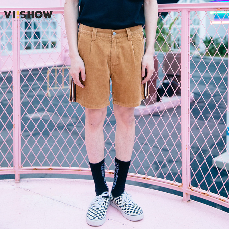 VIISHWO Men Shorts Cotton 2018 Men Short Pants Zipper Casual Summer Trousers Solid Shorts Street Wear New sweatpants KD1469182