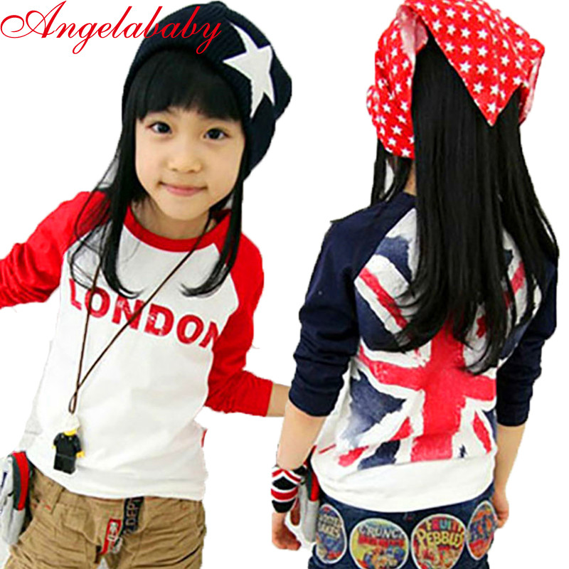 Girls T-Shirts Clothing London Long-Sleeve Tops Baby Boys Children NEW Love And Tees