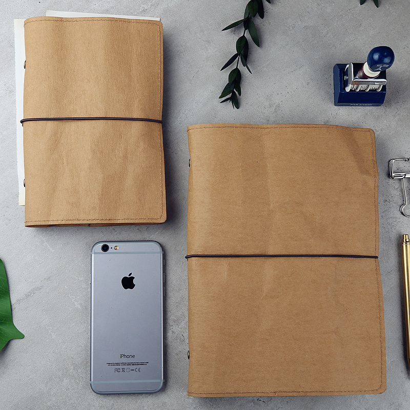 A6 Vintage Washable Kraft Paper Book Cover Diary Cover for  Loose Leaf Inner Notebook домкрат kraft кт 800026
