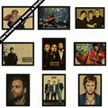 Muse Music Art retro rock music nostalgia papel kraft pintura decorativa cartazes adesivos de parede