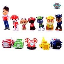 12pcs/set Paw Patrol toys Rescue team Dog Dolls Set PVC Select Figure Anime Action Figure Model toys for Child Birthday Gift цена
