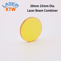 10.6um Co2 Laser Beam Combiner Mirror 20mm 25mm Diameter 2mm Thickness For Laser Engraving Cutting Machine Free Shipping