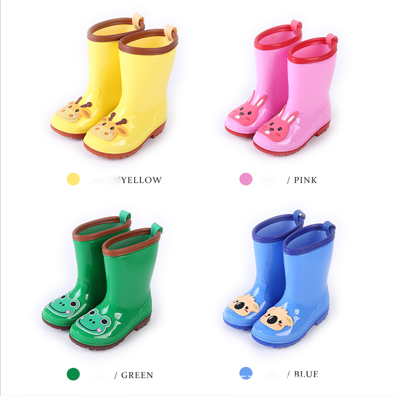 1.Rain Boots Kids for Boys Girls Rain Boots Waterproof Baby Non-slip Rubber Water Shoes Children four Seasons Rainboots.