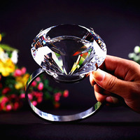 80mm Super Big K9 Crystal Clear Diamond Ring Romantic Marriage Proposal Wedding Decoration Valentine S Day