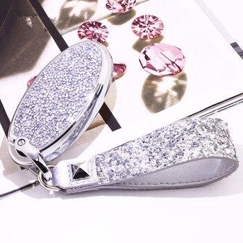 Künstliche Kristall schlüssel fall abdeckung schützen shell halter Für Nissan Tidda Livida X-Trail T31 T32 Qashqai März Juke pathfinder