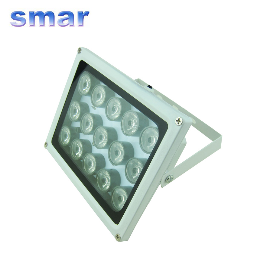 Smar Night Vision Auxiliary Infrared 15 LED Array IR illuminator Lamp IP66 Waterproof for Security CCTV Surveillance Camera illuminator light 4 big led cctv ir infrared night vision for surveillance camera security system wholesale free shipping