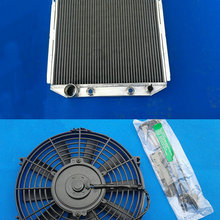 3 ряда радиатор из алюминиевого сплава+ вентилятор 1964-1966 для FORD Mustang V8 двигателя 5.0L 1964 1965 1966