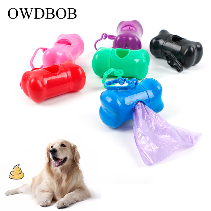 OWDBOB Bone Shape Pet Dog Poop Bag Dispenser Pet Waste Bag Holder For Dog Dispenser Garbage Bags Carrier Holder Pet Supplies