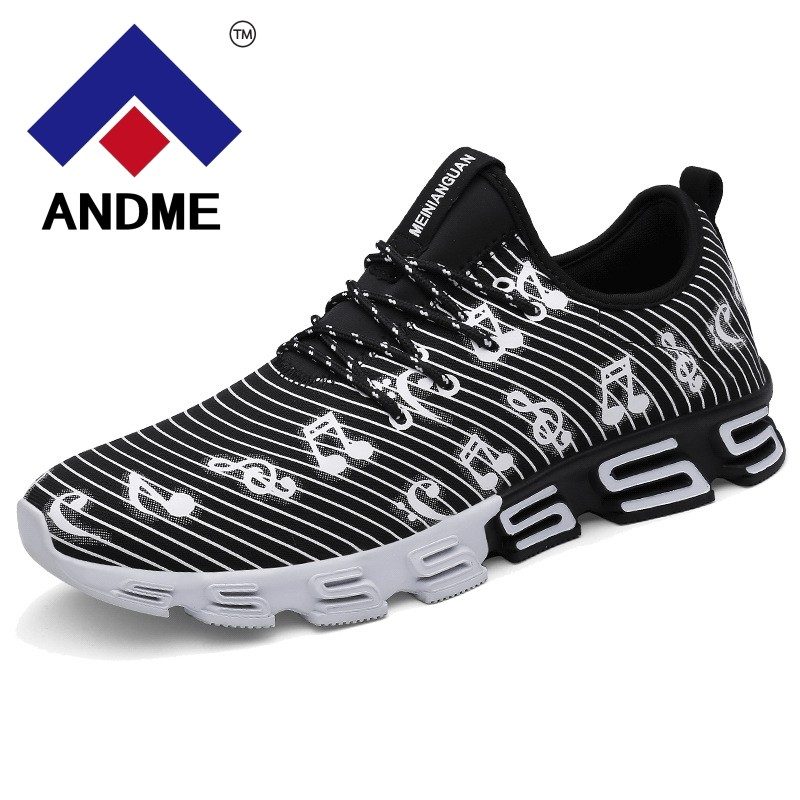 New Listing Mens Runing Shoes Stripe Music Note Outdoor Sport Shoes New Design S sole Trainer Workout Sneakers for men ...