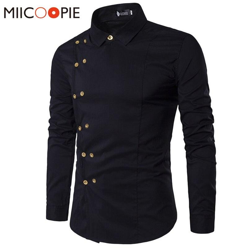 Camisa de manga longa masculina masculina camisa de ajuste fino
