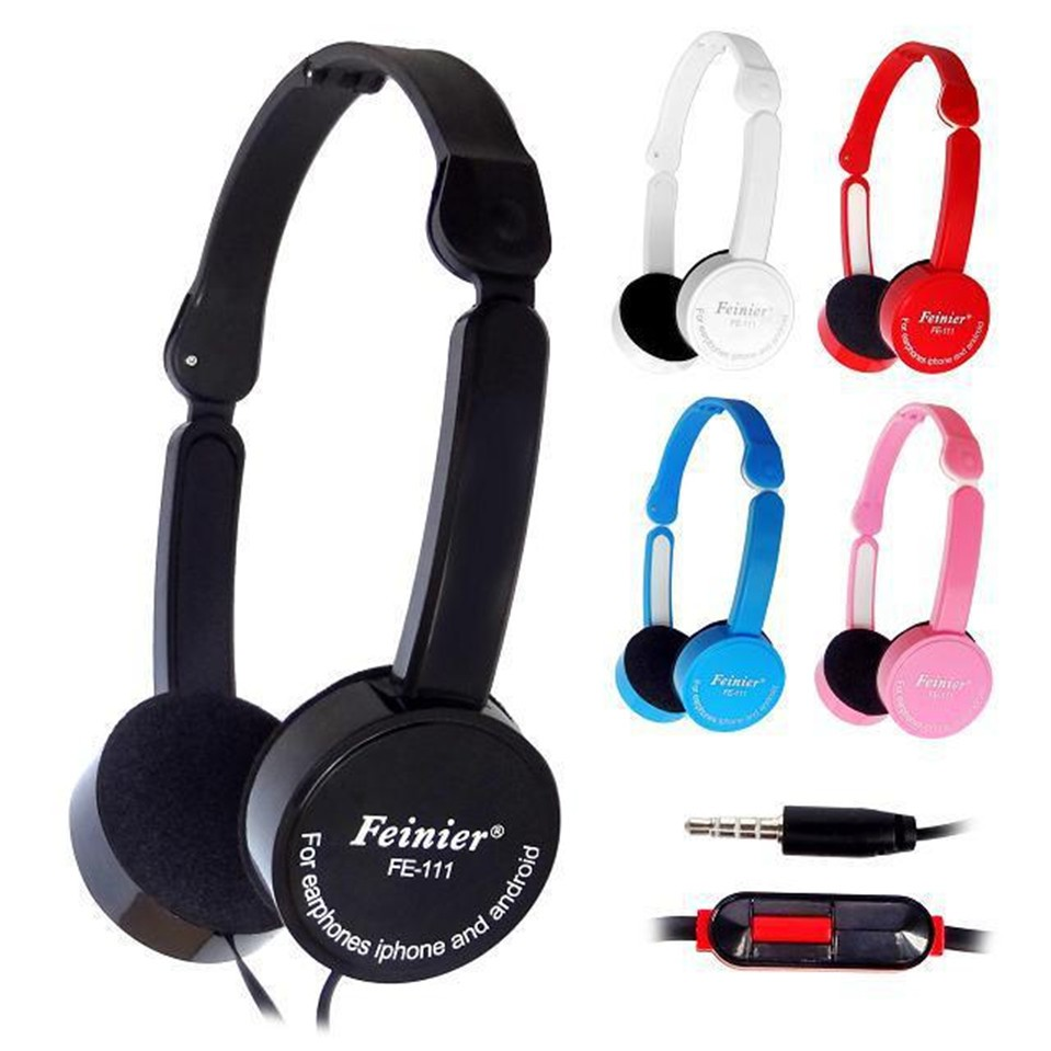 SOKELY Children Foldable Wired Headphones Portable 3.5mm Earphone With Wire Control Microphone for MP3 MP4 Computer