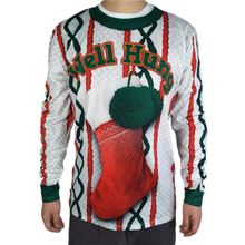 цены на Tacky Christmas Stocking Printed Ugly Christmas T Shirt for Men Flirty Long Sleeve Ugly Xmas T Shirts Plus Size  в интернет-магазинах
