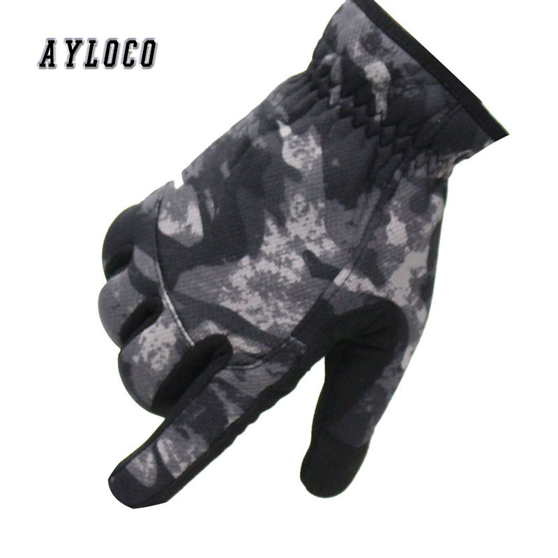 Army Camouflage Winter Tactical Gloves Men Breathable Multicam Paintball Military Gloves Bicycle Shoot Full Finger Warm Gloves