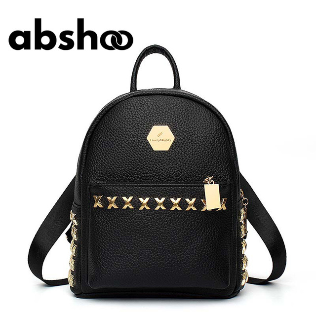 88c3917ec9 Girl Leather Backpacks Fashion Design School Bags Rivet Backpack Chic Style Backpack  Cute Girls Bag