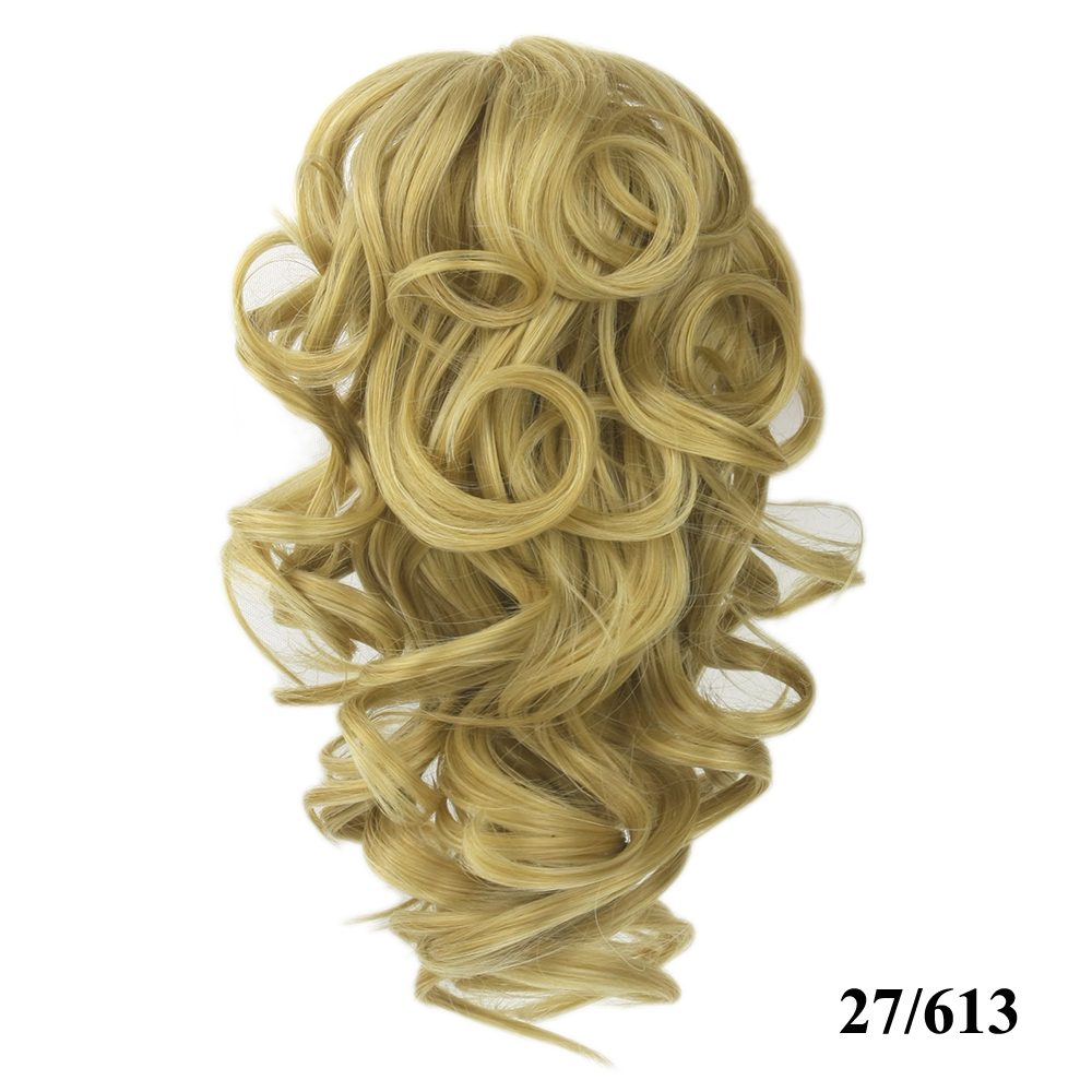 HTB1C1aiQVXXXXcpXVXXq6xXFXXXj - Soowee 8 Color Curly High Temperature Fiber Synthetic Hair Pony Tail Hairpiece Blonde Gray Clip In Hair Extensions Claw Ponytail