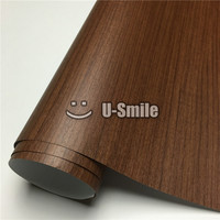 Wood Self Adhesive Film Teak Wood Vinyl Wrap For Furniture Car Decoration Size:1.24X50m/Roll
