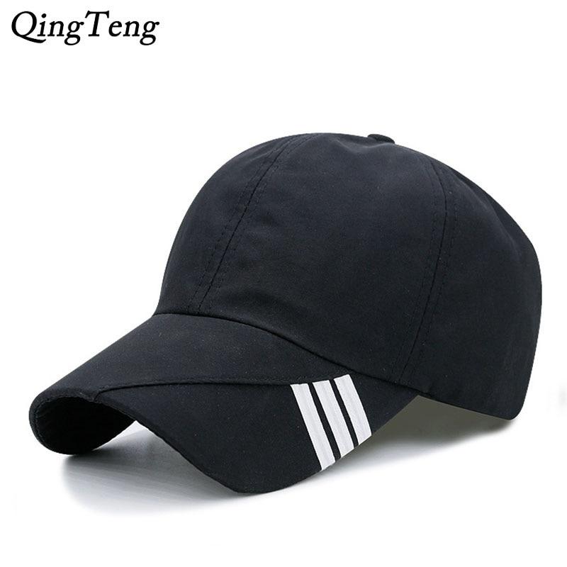 2018 Unisex Summer Baseball Cap Men Breathable Quick-Drying Mesh Hats Women Sunshade Caps Adjustable Solid Snapback Hat