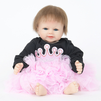 New Design 22 Inch Mohair Eco friendly PP Cotton Body Reborn Baby Christmas Dolls Toys for Kids