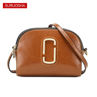 Genuine Leather Women Brand Luxury Bags High Quality D Round Metal Lady Zipper Bags Around Layers Bag Box Style Fashion Handbag