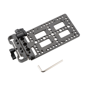 CAMVATE Versatile Battery Plate With Rod Clamp C1834