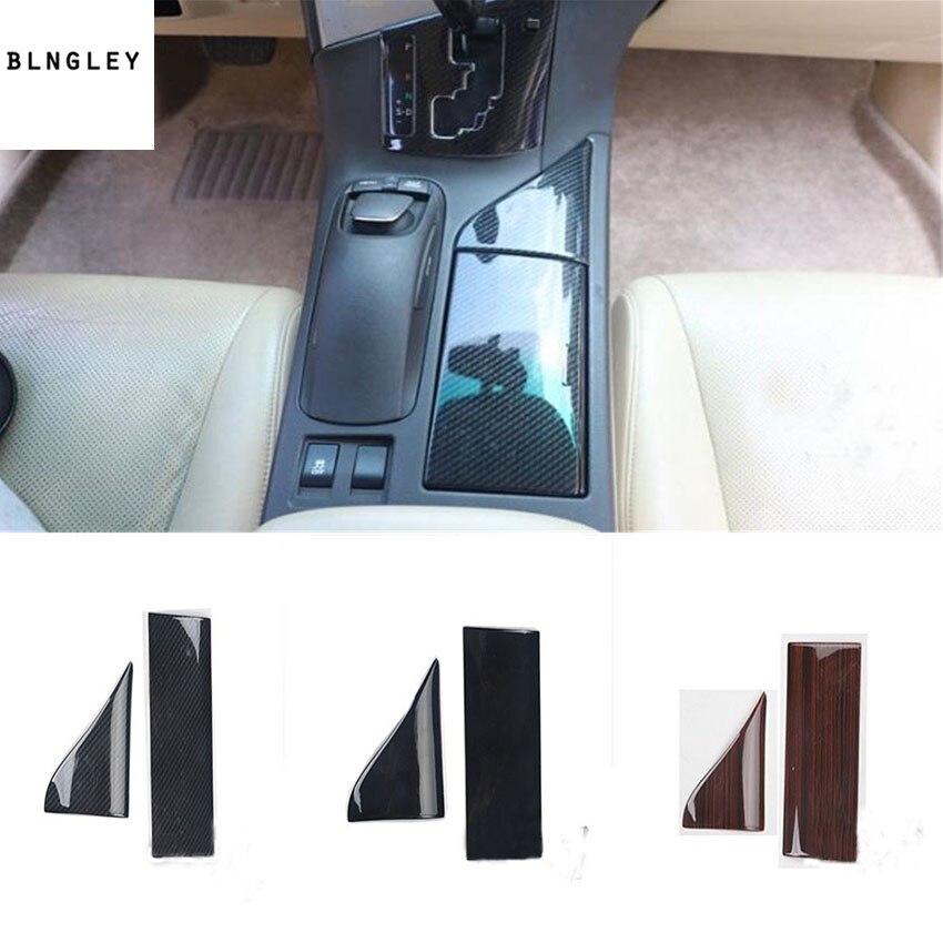2 pcs/lot ABS fiber de carbone ou en bois grain de contrôle Central tasse en verre panneau décoration couverture pour 2009-2014 LEXUS RX200 RX300 RX350