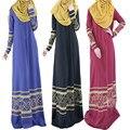 Пузырь Чай Новых Мусульманских Женщин Платье Исламский Абая Одежда Мода 3 Цвет Лучшие Воскресенье Арабские Одежды Малайзии Весна Осень Одежда