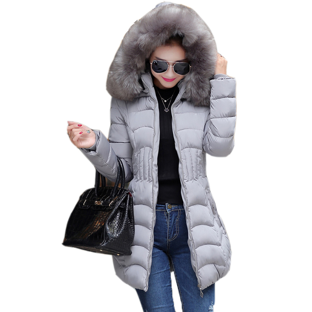 manteau femme winter jacket women coat parka womens jackets and coats abrigos y chaquetas mujer invierno 2015 fur fashion Slim