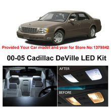 Free Shipping 10Pcs/Lot car-styling Xenon White Canbus Package Kit LED Interior Lights For Cadillac DeVille 2000-2005 цена в Москве и Питере