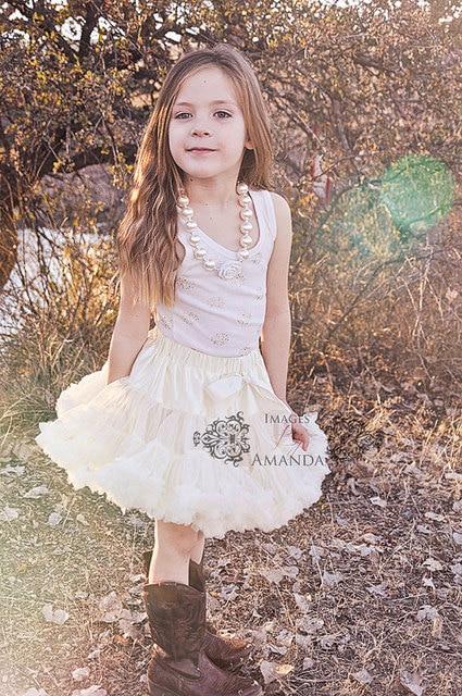 Girl Wedding pettiskirt Flower Girl skirt tutu Romper skirt vintage petti skirts girls birthday outfit Baby photo prop