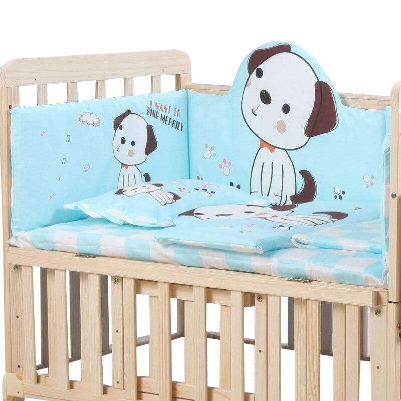 Baby Bed Bumper Set in the Crib Cotton Protection for Baby Bed Head Protection for a Baby Bed with Backrest Mattress Pillow Set