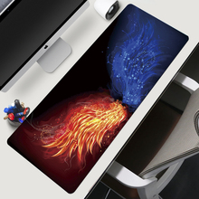 900x400mm Large Gaming Fire Mouse Pad Rubber Lock Edge Laptop Tablets Computer Keyboard Mousepad Anti-slip Gamer Play Mats