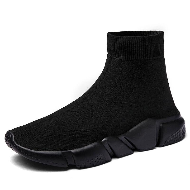 אור גבוהה למעלה חדש לנשימה עף גרבי נעלי גבר נשים ספורט למתוח ספורט סניקרס שטוח ריצה נעלי גברים Sneaker נעל