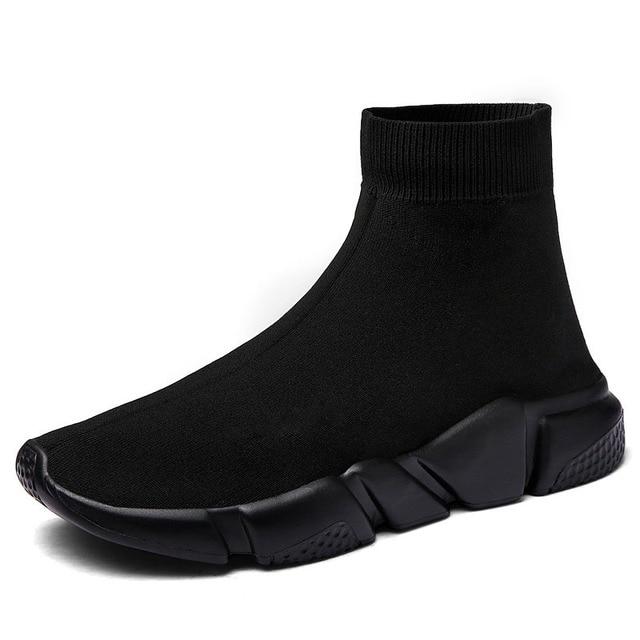 Lumière Haute Top Nouveaux Respirant Volant Chaussettes Chaussures Homme  Femmes sport Stretch Sport Sneakers Plat Chaussures 60455b3f0368